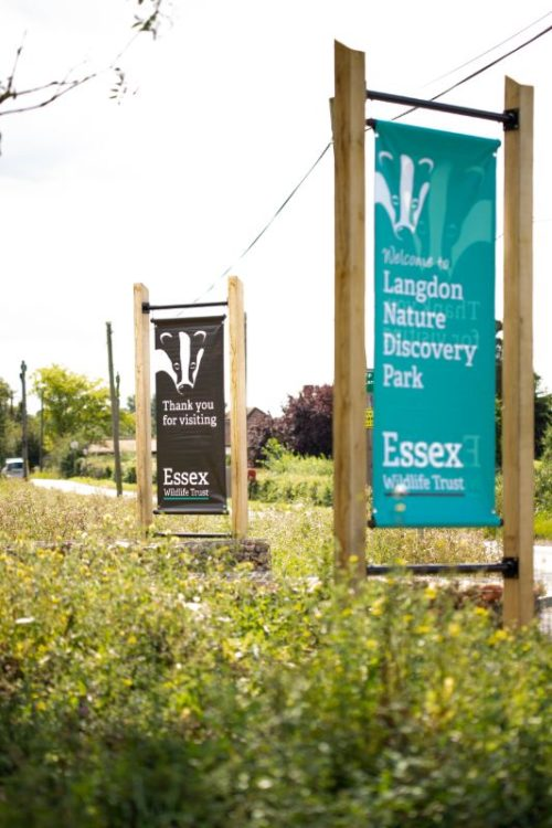 Langdon Nature Discovery Park Banner Sign