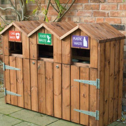 LBR3 Triple Recycling Bin