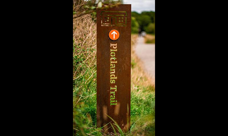 Plotlands Trail waymarker